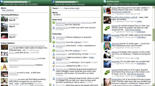 MySpace Facebook Twitter on Digsby