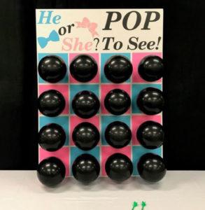 Balloon Dart Gender Reveal Game