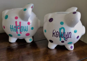 Personalized gift piggy bank