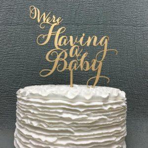 Cake topper pregnancy reveal