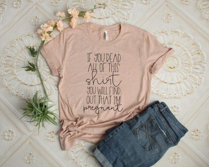 Pregnancy Reveal shirt