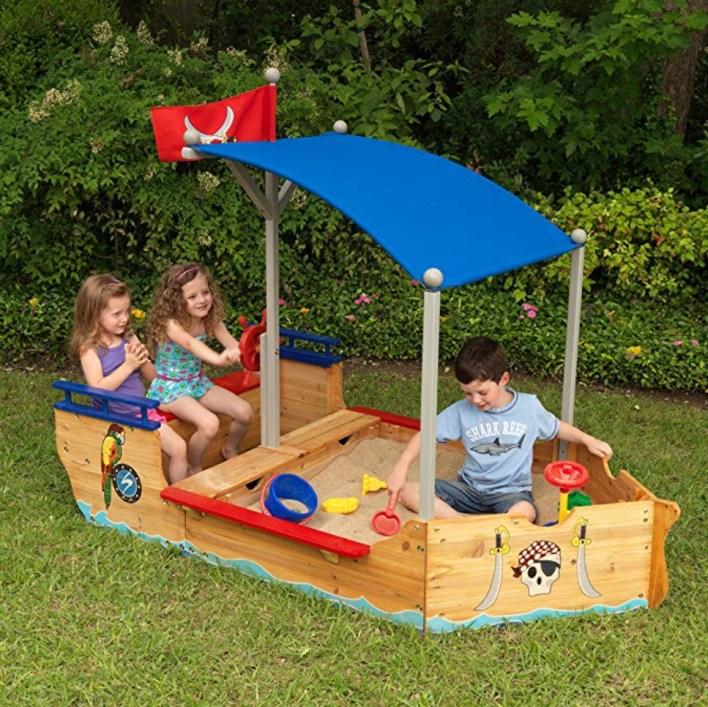 Pirate ship sand box