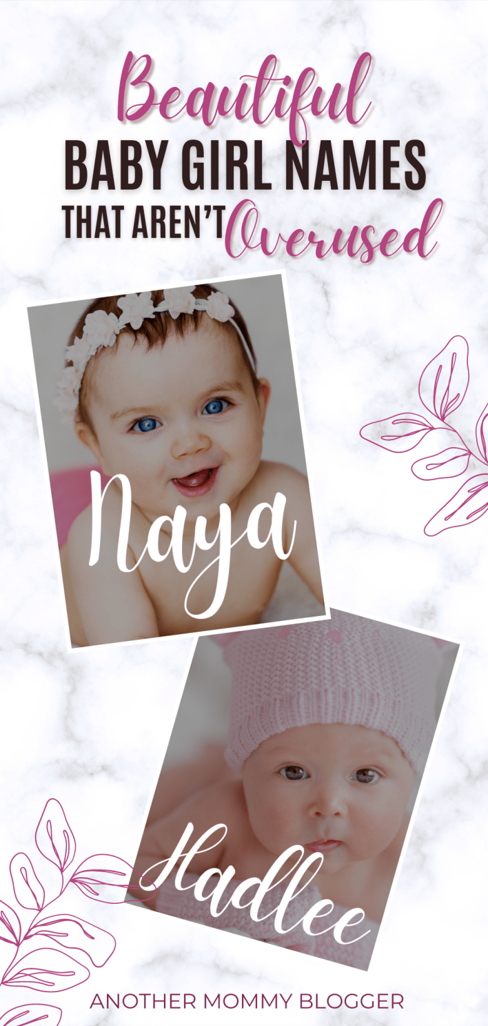 This is a list of beautiful unique baby girl names. These girl names are rare and sound very pretty. #babygirlnames