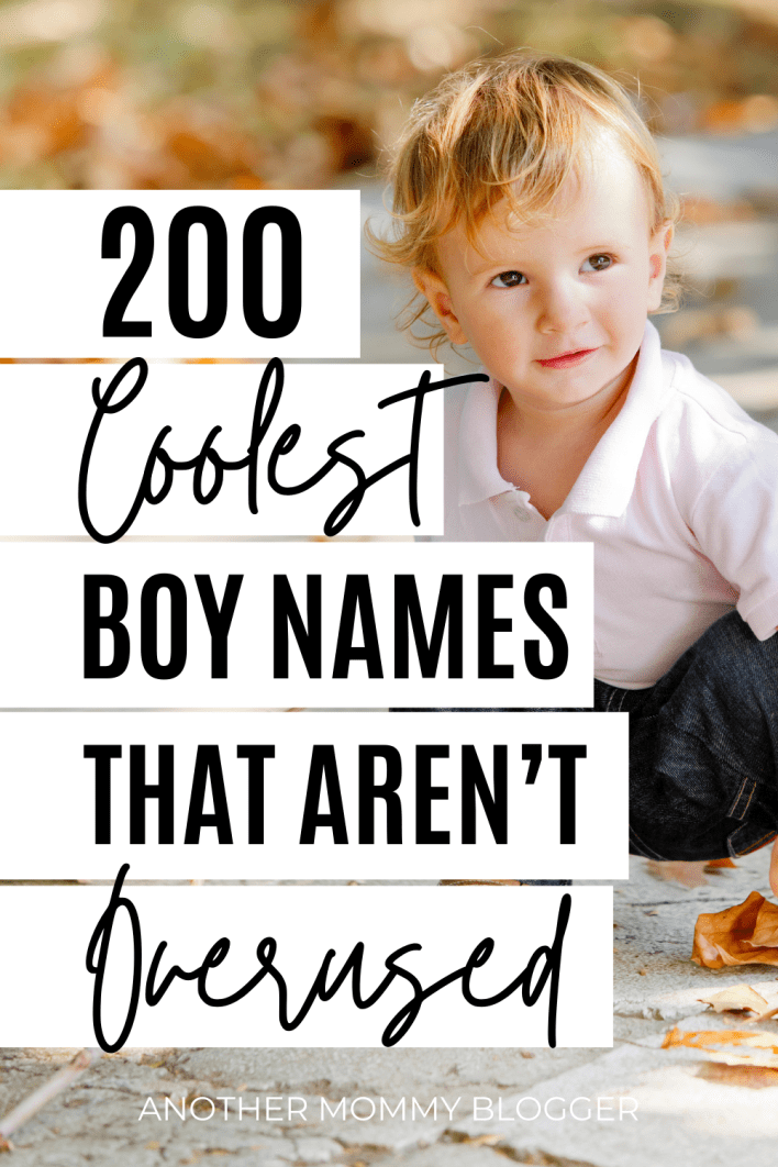 This is the best cool boy names list. You'll love these uncommon baby boy names that are unique but not weird.