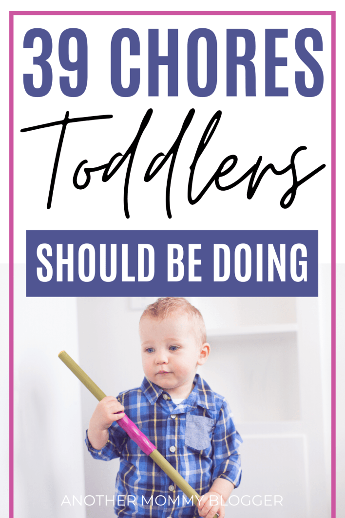 Add these easy task to your toddler chore charts to start teaching your toddler responsibilities. #toddler