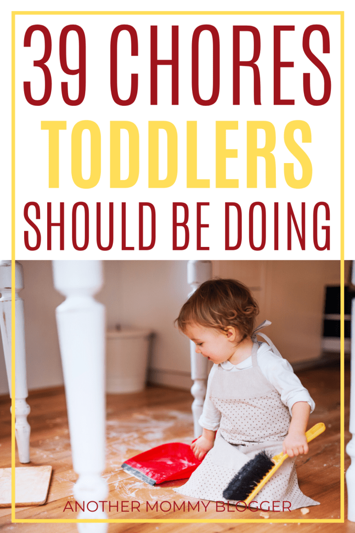These age appropriate chores should be in your toddler chore chart. #toddler