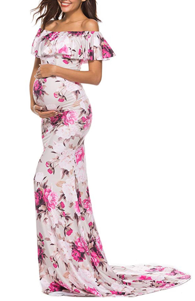 Floral pregnancy dress