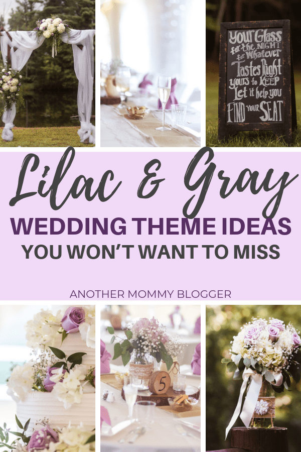 Lilac + Gray Wedding Ideas #wedding #weddingdecor #lilac #gray