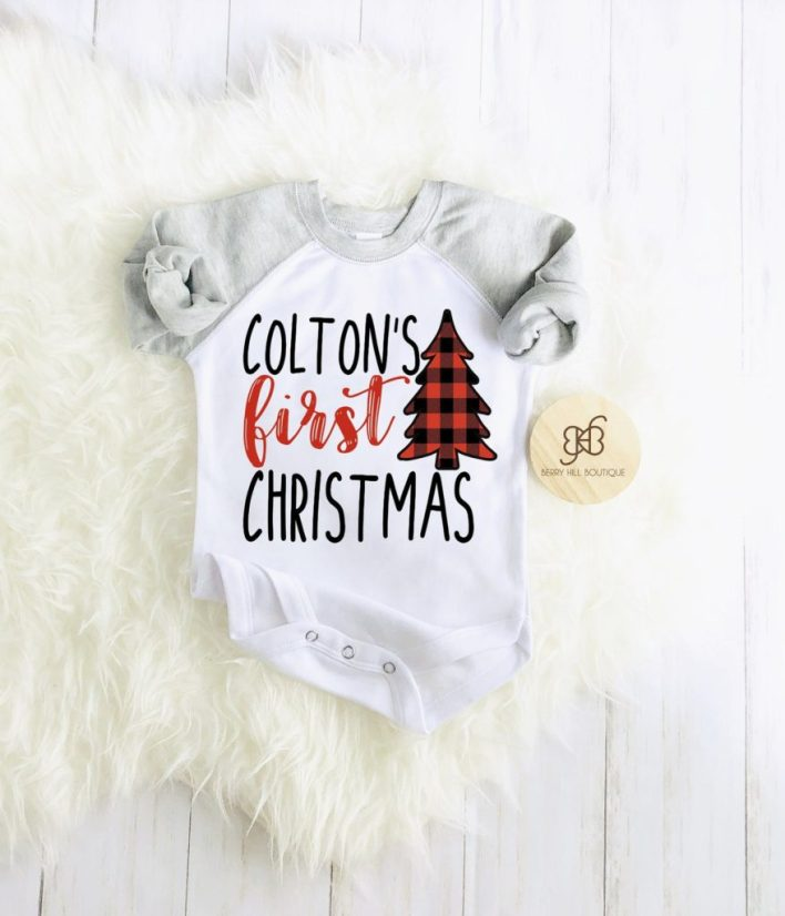 Baby Boy's First Christmas Outfit