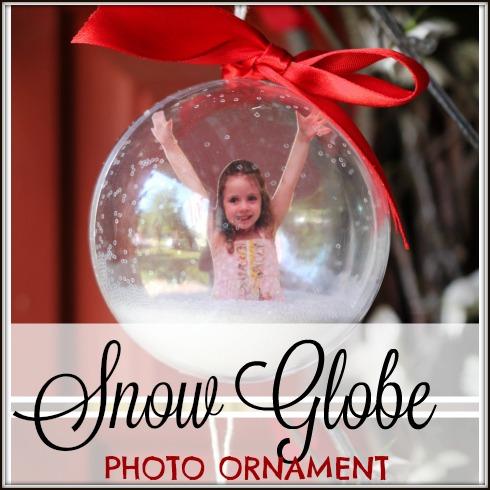 DIY Photo Ornament Snow Globe