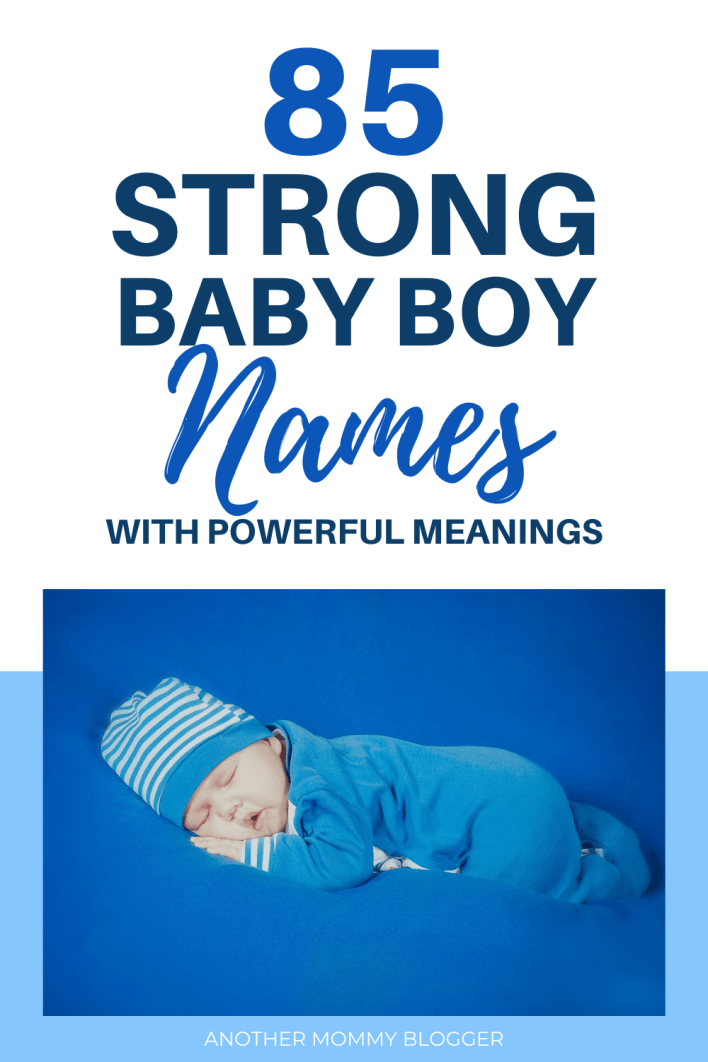Strong baby boys need strong baby boy names with powerful meanings #babyboynames #babynames