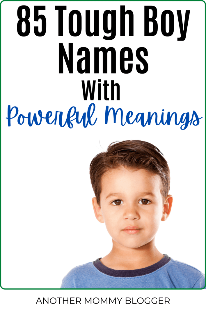 These are tough names for boys. You'll love these strong boy names with powerful meanings. #babyboynames