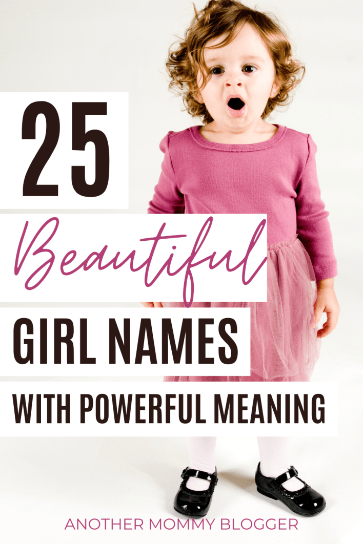Check out these beautiful girls names with powerful meanings on this baby girl names list. #babygirlnames