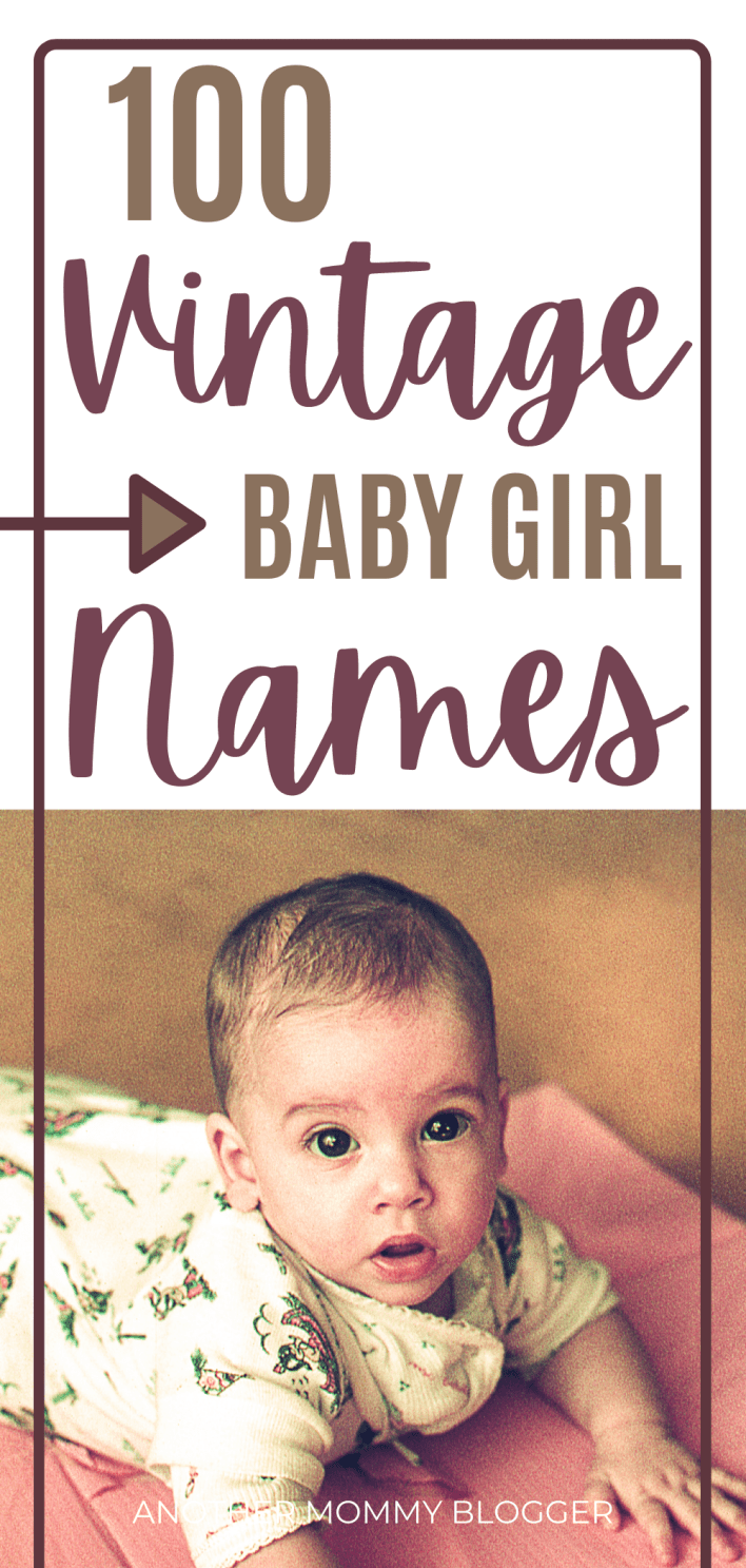 Here is a baby names list of beautiful vintage baby girl names. #babygirlnames