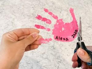 DIY Kids Handprint Keychains