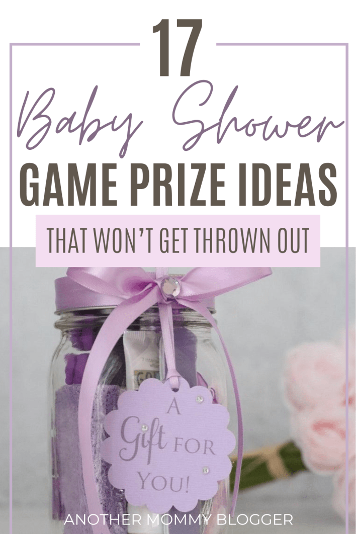These baby shower prizes for games are cute an affordable. Best part is they;re things your guest will actually use. #babyshower #babyshowerprizes