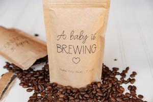 Coffee baby shower prize