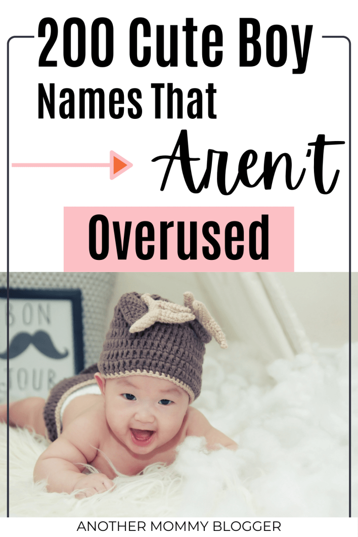 This is a unique list of cute boys names that are rare. #babyboynames