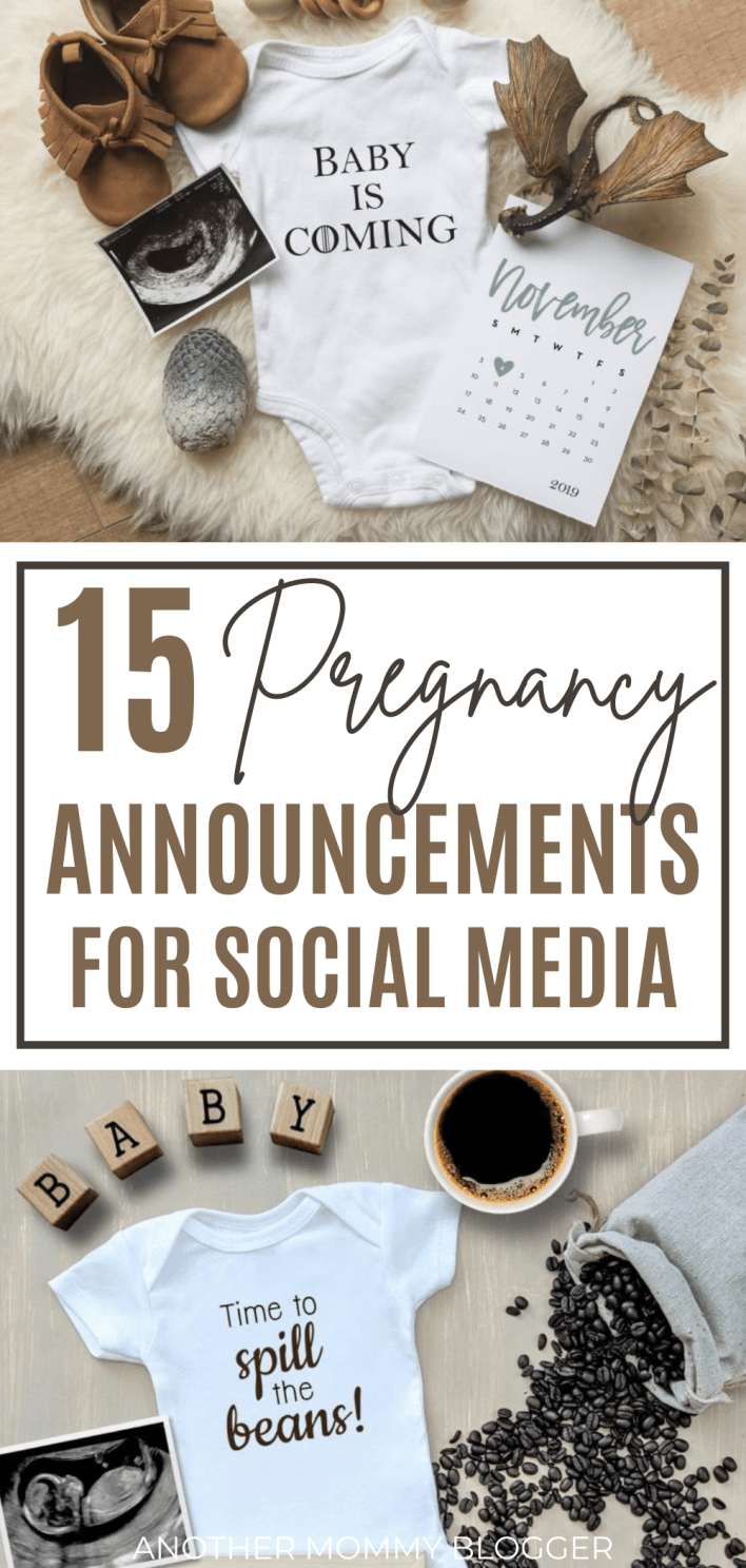 Tell your friends and family you're pregnant with one of these super cute and creative pregnancy announcements for social media.