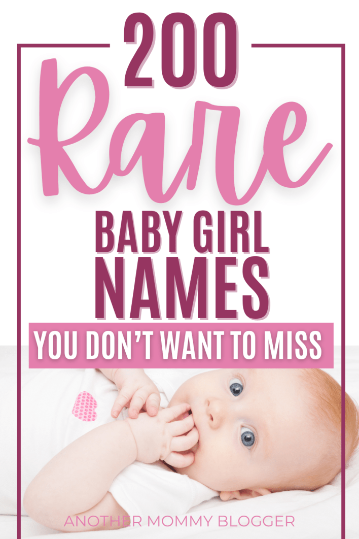 This is a baby girl names list. These are very unique names for girls that no one has. #babygirlnames