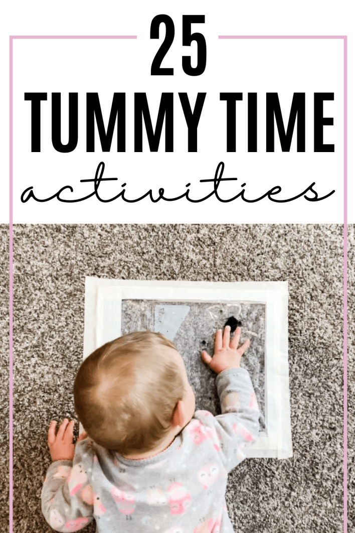 Get baby to do more tummy time with these fun activities for baby.