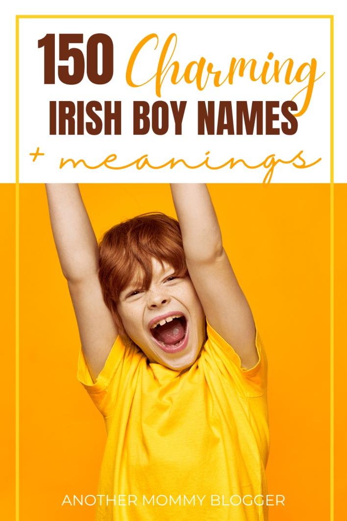 Charming Irish names for boys! These are the coolest Irish baby boy names with meanings.