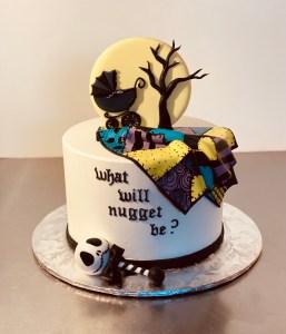 Nightmare Before Christmas Gender Reveal Cake