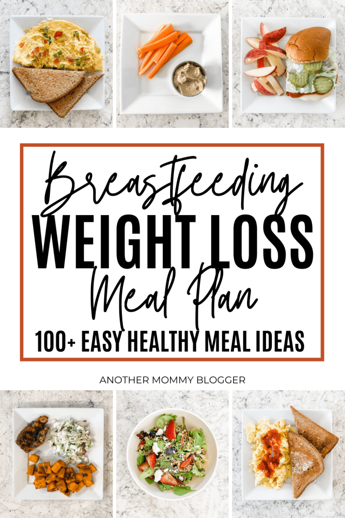 Easy low calorie meal ideas to lose weight while breastfeeding without exercise. This breastfeeding diet meal plan has over 100 low calorie meal ideas.