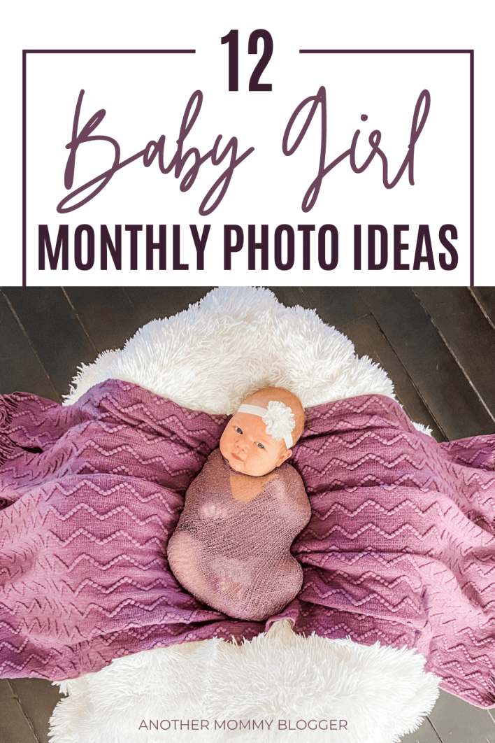 These are cute baby girl picture ideas. Need diy baby photography tips for taking baby photos at home? Get these baby monthly milestone photo ideas for new moms.