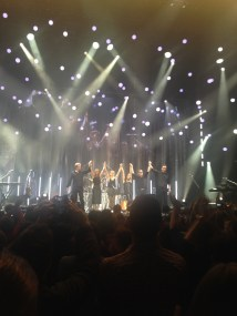 From left to right - Anthony Drennan, Sharon Corr, Caroline Corr, Andrea Corr, Jim Corr & Keith Duffy