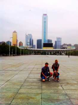 Denise and Barry in China.