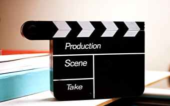 black and white production scene take tool