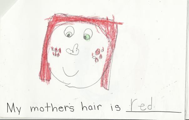 my mother's hair is red