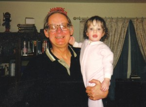 Here are Molly and her Grandpa Vince on New Year's Eve, 2000, a perfect start to the new millenium..