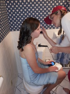 Katherine came home to help Molly get ready for her first high school dance.