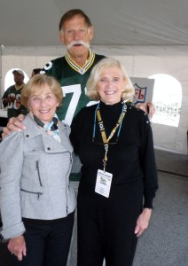 Ben Davidson and his wife Kathy enjoyed the 2011 Packer Alumni reunion. Big Ben Davidson stood 6-8 and weighed 275 during his playing days and went on to enjoy a successful Hollywood career. Sadly, Mr. Davidson died last July of prostate cancer.