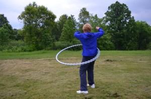 Grandma Peggy rocked the hoop.