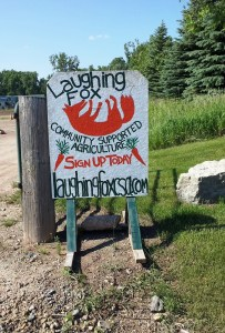 Here's the entrance to the Laughing Fox Community Supported Agriculture farm.
