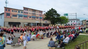 Hats off to the talented Pulaski high school marching band, which stretched for more than a block.