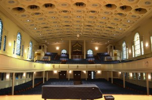 I popped in yesterday to see what the view looked like from on the stage. Beautiful.