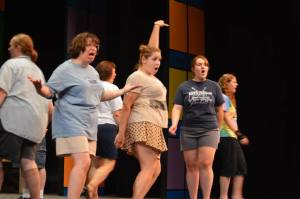 Here's the Attic Theatre How to Succeed cast during a lively rehearsal. It's a very funny show and you should all come see it.