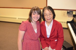 This is a current picture of Molly with her beloved piano teacher Mrs. Chang.