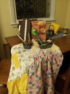 For Molly's birthday last week, she received some wonderful blog-themed presents including a pie cookbook and a football oven mitt. Which reminds us, opening day of the Packer season is Sunday. Go Pack Go!