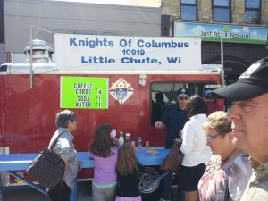 Ya, you betcha. Cheese curds from a truck.