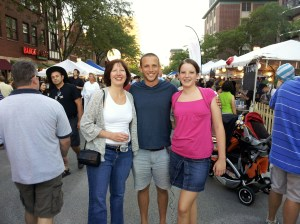 Donna, Vinnie and Molly at Taste of Arlington