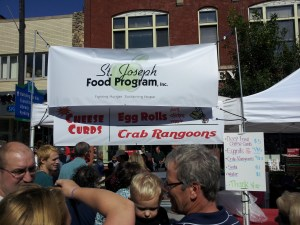 Egg rolls, cheese curds and crab rangoon. Even our Asian booths sell cheese curds during Oktoberfest.
