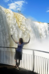 Soaked by the falls