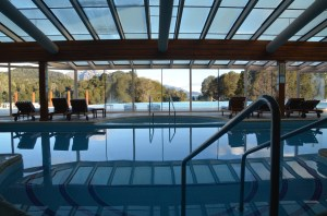 Here's a view from inside the hotel pool.
