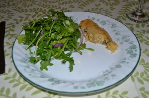 Croatian dinner Burek and salad