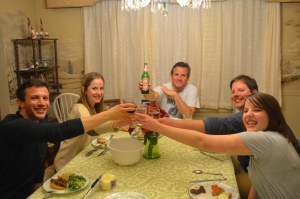 Ziveli! A toast to food, family and college students who come home eager to earn a buck or two!